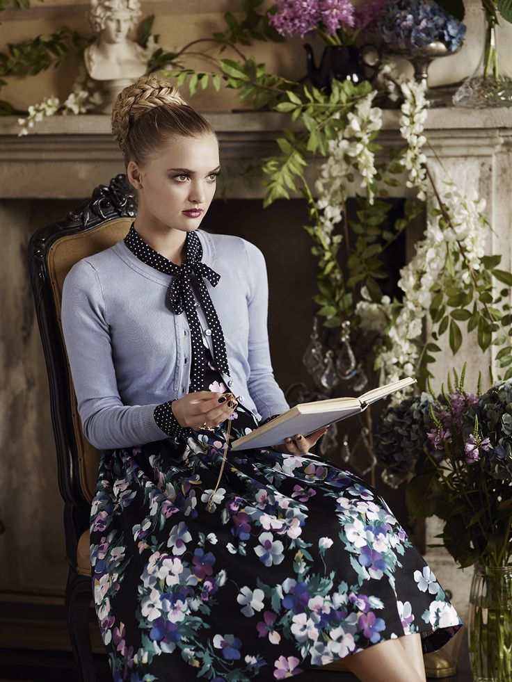 The Dorchester Spot Blouse, Chessie Cardi & Midnight Bloom Prom Dress