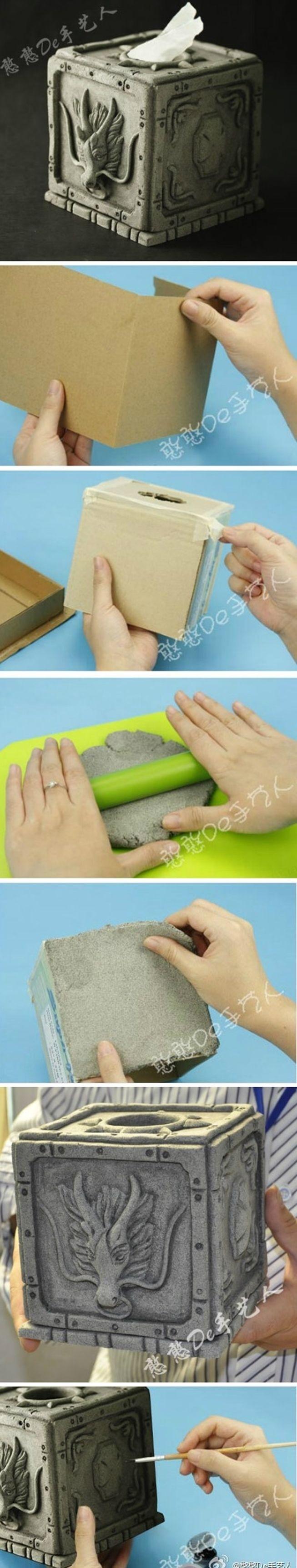 DIY Tissue Box - really cool