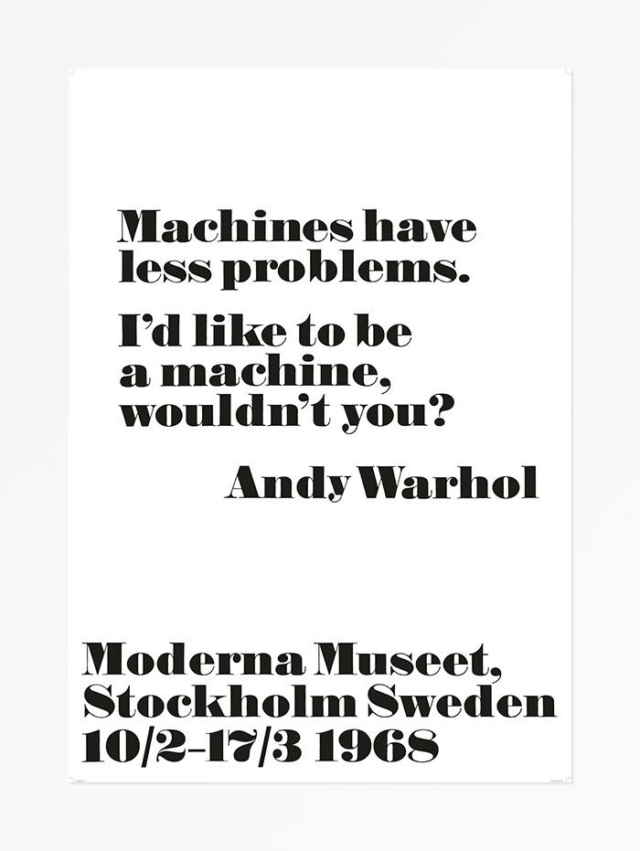 Andy Warhol - Machines have less problems
