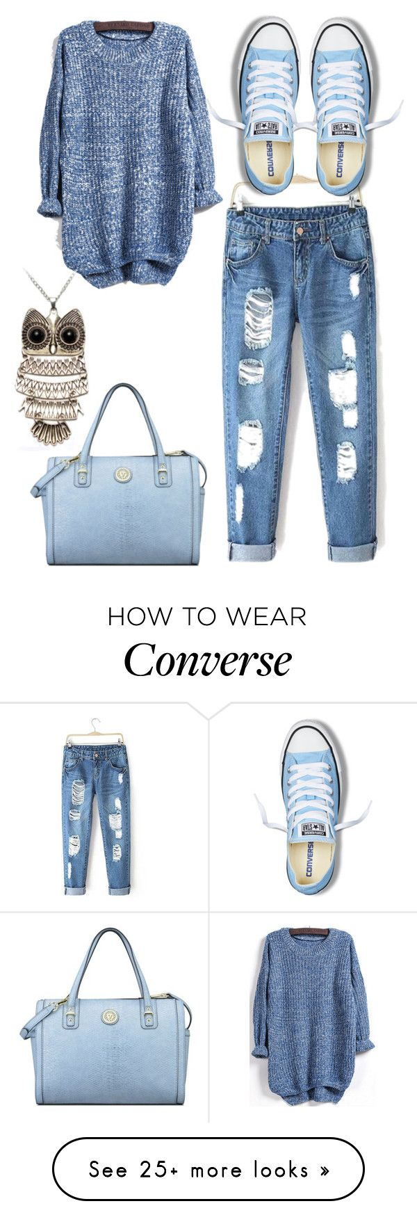 """""""Untitled #931"""" by adancetovic on Polyvore featuring Converse, Anne Klein, women's clothing, women's fashion, women, female, woman, misses and juniors"""