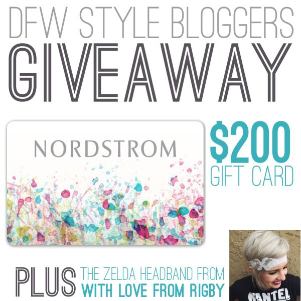 $200 Nordstorm GC Giveaway with DFW Style Bloggers