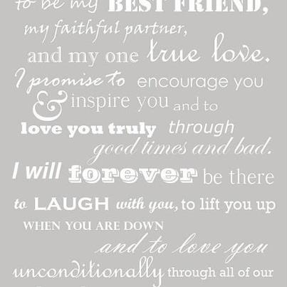 Beautiful wedding vows. Author unknown. Ideas - Love Quotes