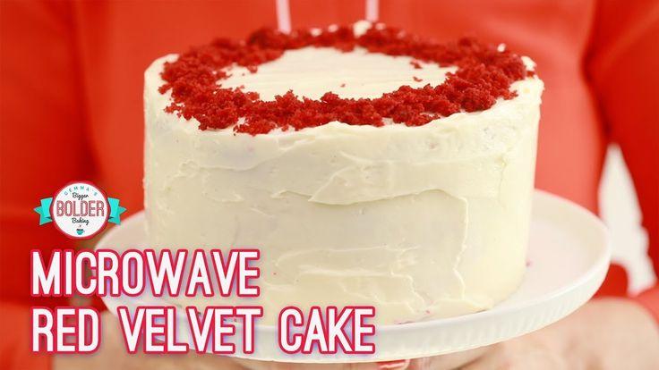 3-Layer Microwave Red Velvet Cake | Bigger Bolder Baking