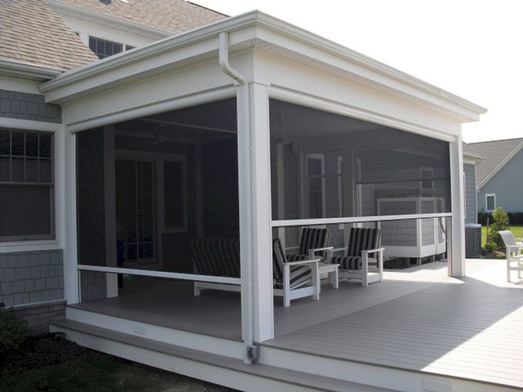8 ways to have more appealing screened porch deck porch for Motorized screens for patios pricing