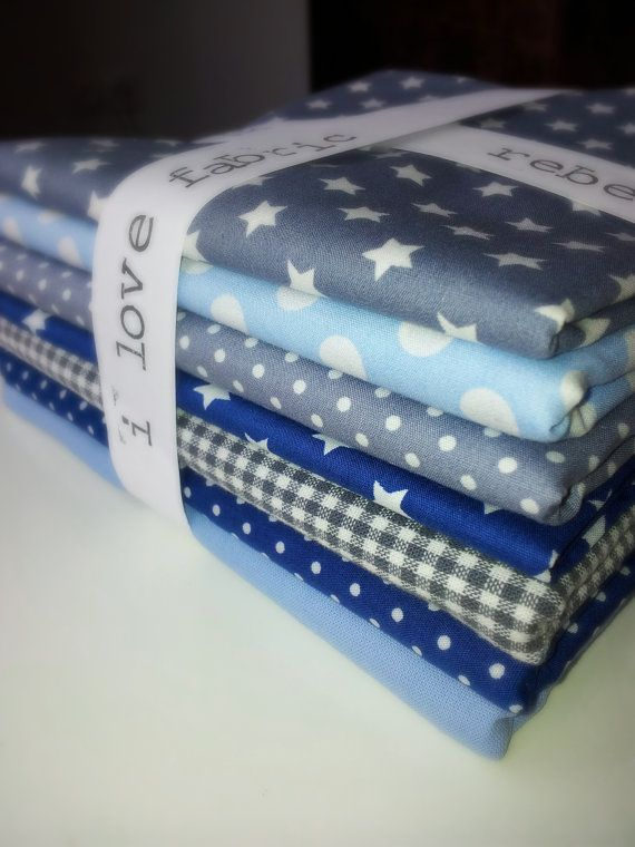 Wonderful bleu and grey fabric