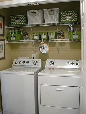 Simple, but nice laundry room organization by allisonn