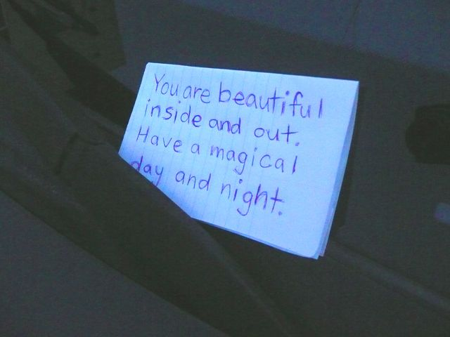 Day 32 Leave A Positive Note On A Car S Windshield Positivity
