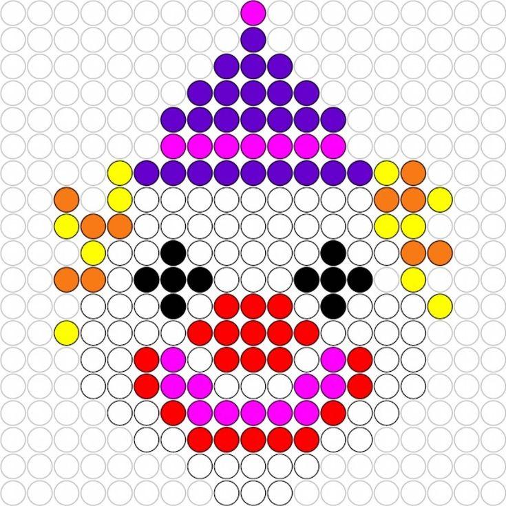 Kralenplank Clown
