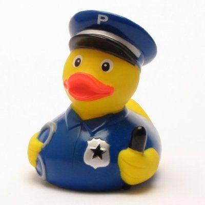 Canard de bain en caoutchouc - Policier