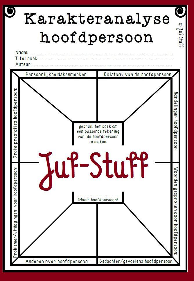 Karakteranalyse hoofdpersoon Juf-Stuff: Lezen, lezen, lezen