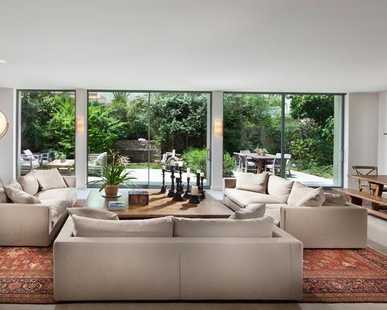 living room big windows