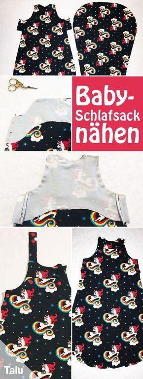 Kostenlose Anleitung - Baby-Schlafsack nähen - Talu.de