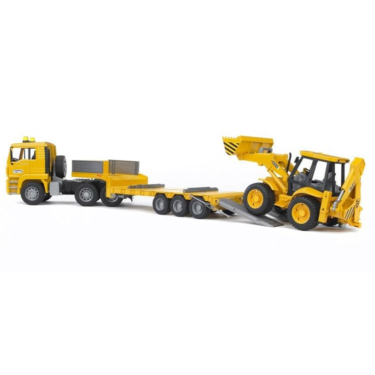 This awesome Bruder low loader MAN truck comes with JCB backhoe loader making this play truck set every boy's dream gift! Manufactured by Bruder.