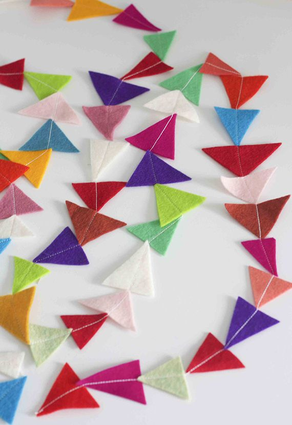 Felt Triangle Garland: do this in all white