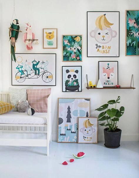 coolest art for kid s rooms neutralkidbedroom neutral kid rh pinterest com