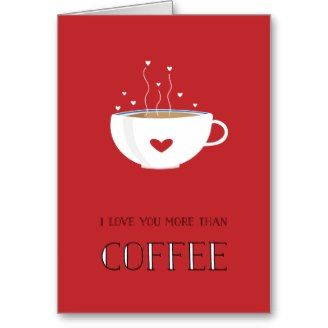 Coffee-Themed Valentine's Cards