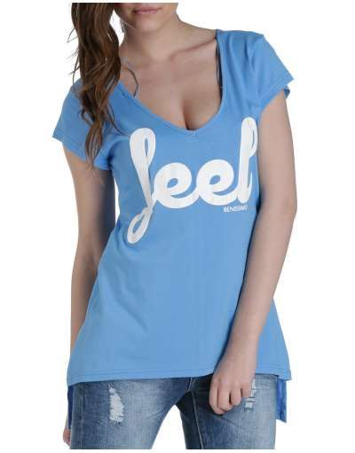 ΝΕΕΣ ΑΦΙΞΕΙΣ :: T-shirt Feel Asymmetrical Light Blue - OEM