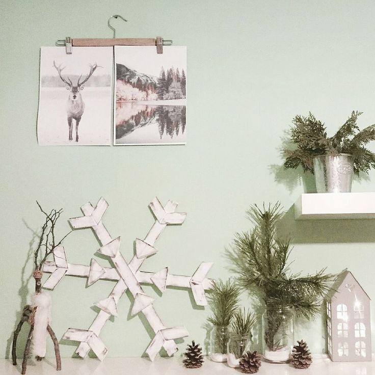 Hópehely, fadarabok, barkácsolás, tél, dekoráció... Winter, snowflake, wood, diy....