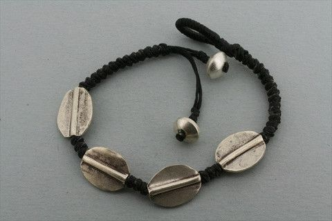4 disc bracelet - black