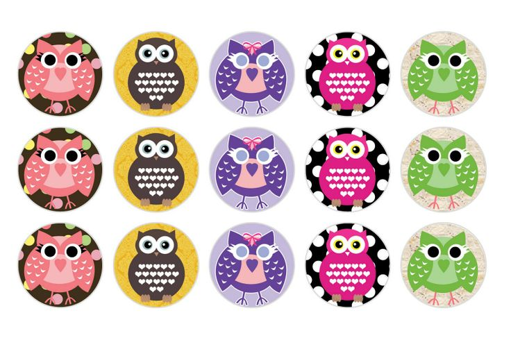 free bottle cap images | It's A Small WWW: Free Owl Bottlecap Images
