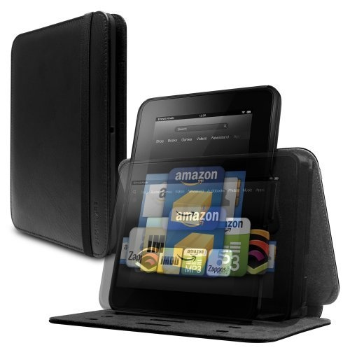 "Marware Revolve Genuine Leather Rotating, Standing Case for Kindle Fire HD 7"", Black (only fits Kindle Fire HD 7"") by Marware, http://www.amazon.com/dp/B009RH9FR6/ref=cm_sw_r_pi_dp_mrXYqb051XAR0 #mike1242"