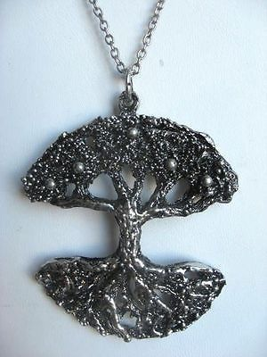 "Tapani Vanhatalo, vintage ""Tree and it's reflection"" pewter (tin) pendant, 1970's. #Finland"