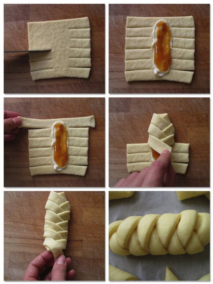 Another without a recipe, but a method of wrapping the dough.  Very cute little pastries.