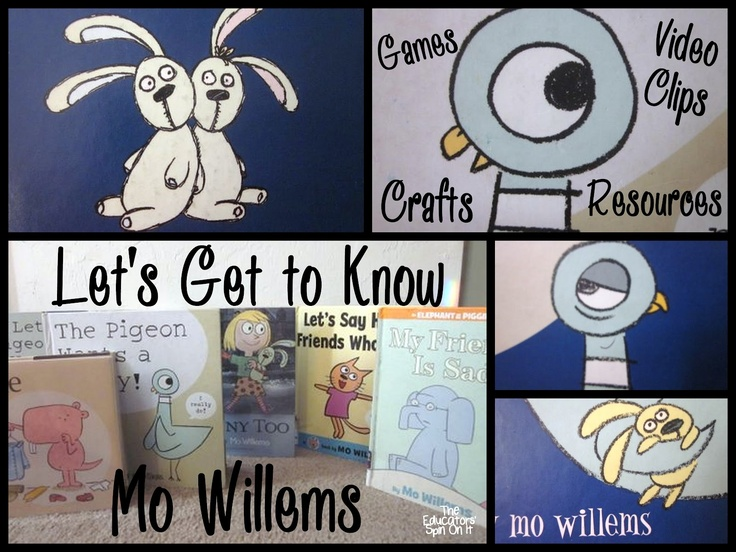 The Educators' Spin On It: Learning to Draw with Mo Willems: Virtual Summer Book Club  BONUS Author Study-Video Clips of Mo Willems to inspire future writers and illustrators!