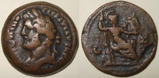 Roman empire - Alexandria of Egypt, Antoninus Pius drachm.