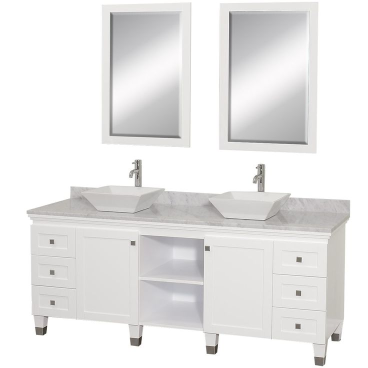 white vanity double sink. Wyndham Collection Premiere White Vessel Double Sink Bathroom Vanity with  Natural Marble Top Common x Actual 156 best RTA Vanities images on Pinterest