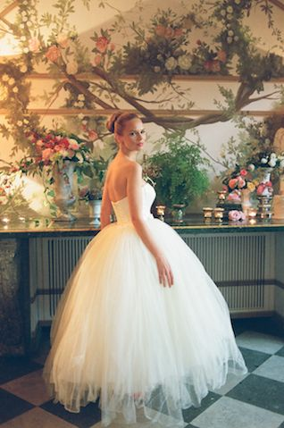 Ballerina wedding dress | Rochelle Cheever Photography | see more on: http://burnettsboards.com/2015/03/floral-inspired-roman-villa-wedding/