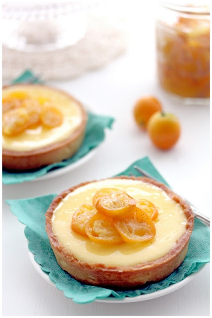 Kumquat/Lemon Tarts - try replacing lemon juice with kumquat juice