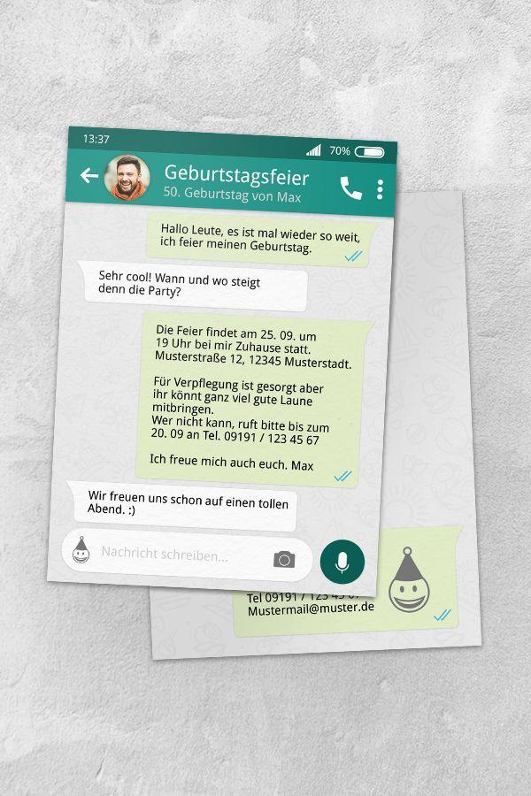 Geburtstagseinladung Whatsapp Vorlage Kostenlos