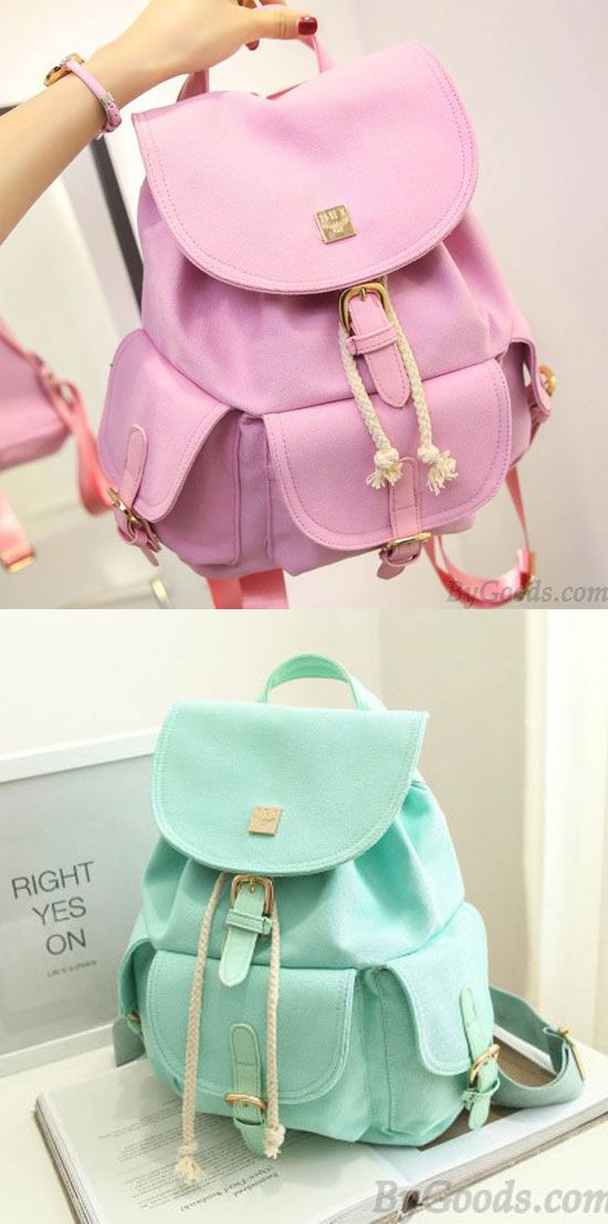 1bc86801d2 Sweet Candy Canvas College Rucksack Mint Green Pure Color Girls Backpack  for big sale !  Backpack  green  mint  rucksack  college  Bag  backpack
