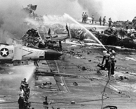 1967 USS Forrestal fire - McCain Wikipedia