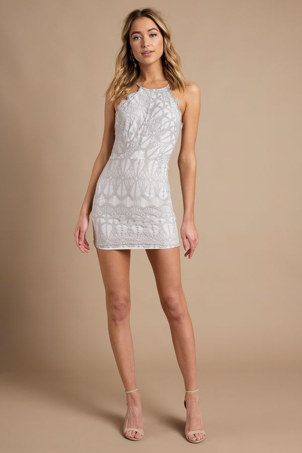 410813d3ba Left them speechless in the Give Me Your Love Lace Bodycon Dress. This lace  bodycon dress features a classy halter neck, adjustable thin straps, ...
