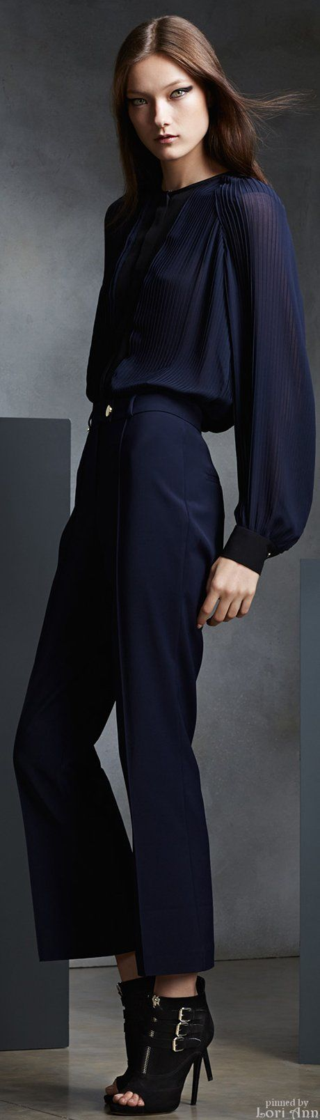 Issa Pre-Fall 2015. So this blouse is beautiful. The pants make me think of my grandmother. Not when she was young and chic either.