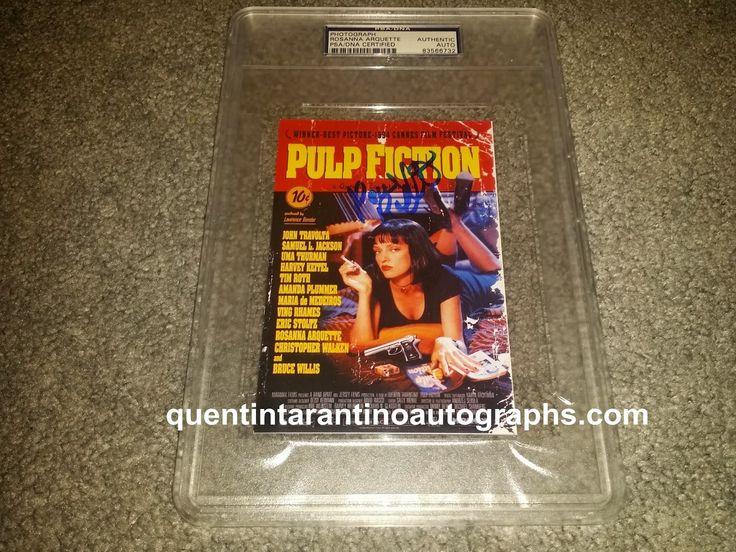 My Quentin Tarantino Autograph Collection: Rosanna Arquette of Pulp Fiction! Autographs! Phot...