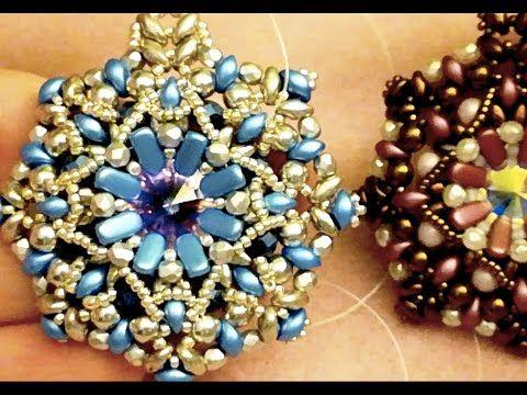 DIY Tutorial: Ciondolo Emma Materiali necessari: - 8 eMMA beads - rivoli 14 mm - rocailles 11/0 (solo 8) - rocailles 15/0 (io ho usato le Toho) - FP 3mm (mezzi cristalli, vanno bene anche bicono o perline da 3 mm) - perle da 4 mm e/o mezzi cristalli da 4 mm (io ho usato i mezzi cristalli suede blu e le perle da 4mm aluminium) - Superduo - Es-o
