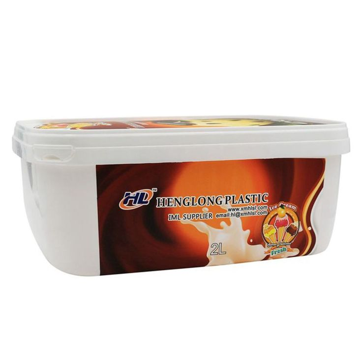 2000ml PP Ice Cream Containers Wholesale,Rectangular Plastic Ice Cream Box,Wholesale Ice Cream Tub with Lids.