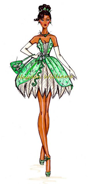 The Disney Diva's collection by Hayden Williams: Tiana by Fashion_Luva, via Flickr