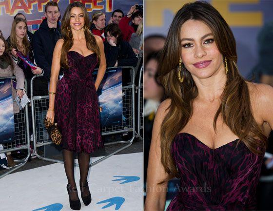 Sofia Vergara In Dolce & Gabbana – 'Happy Feet Two' London Premiere