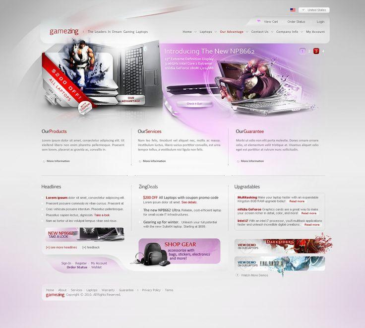 GameZing by alighandour Web Interface Showcase of Inspiration