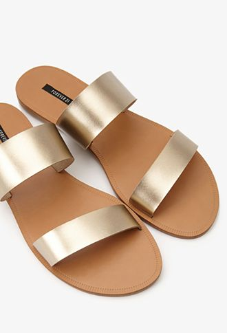 A nice simple metallic sandal that looks like it can stand up to some walking // Forever21