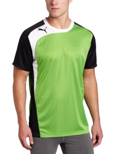 Puma Men's BTS Shirt, Classic Green/Black, X-Large by PUMA. $22.39.  Embroidered Puma Cat Logo On Right Chest, Contrast Insert On Left Side And  Left Sleeve, ...