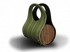carpet tile and wood purse