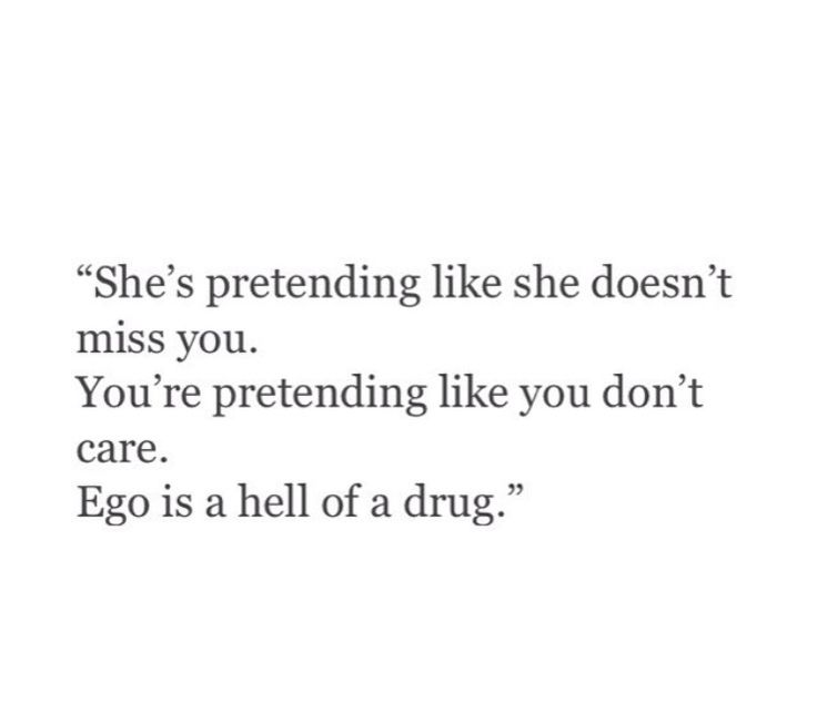 And it kills relationships that should be...
