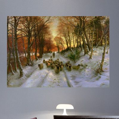 """Wallhogs Farguharson Glowed with Tints of Evening Hours Poster Wall Mural Size: 16.5"""" H x 24"""" W"""