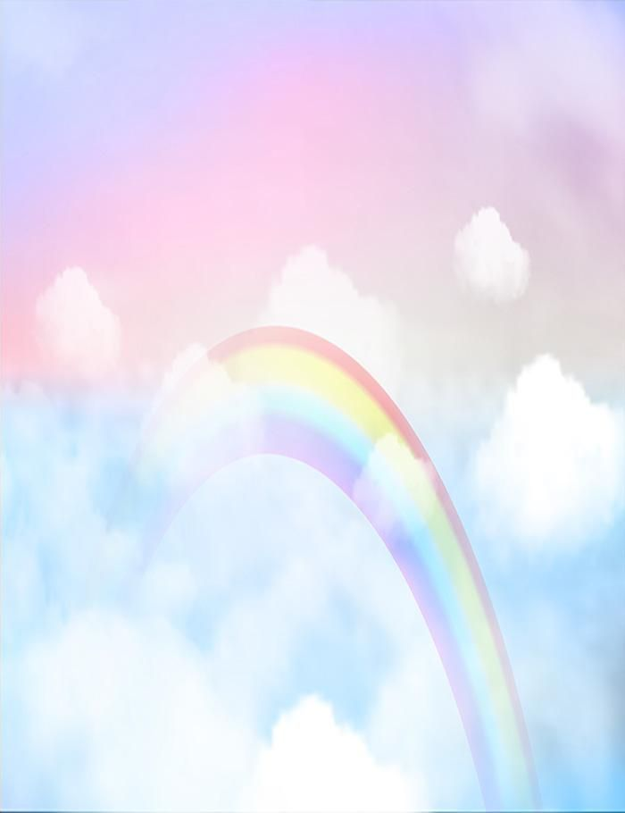 Fantasy Magical Landscape Rainbow On Clouds Sky Photography Backdrop J 0380 Landscape Background Sky Photography Rainbow Wallpaper