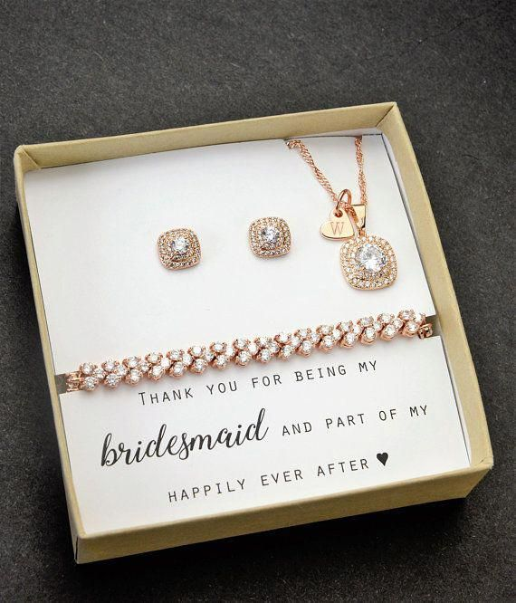 Maid Of Honor Gift Maid Of Honor Necklacematron Of Etsy Bridesmaids Gift Sets Wedding Jewellery Sets Gold Bridesmaid Jewelry Sets